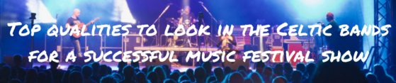 Top qualities to look in the Celtic bands for a successful music festival show